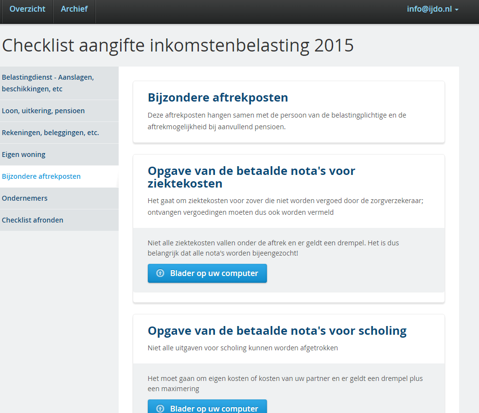 aangifte inkomstenbelasting 2015 en nederland